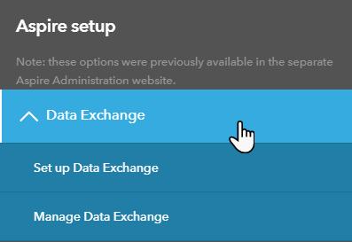 Aspire Setup Data Exchange